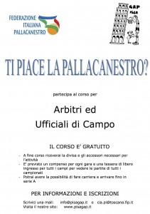 Corso arbitri eufficiali di campo a Pisa 2012